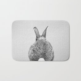Rabbit Tail - Black & White Bath Mat