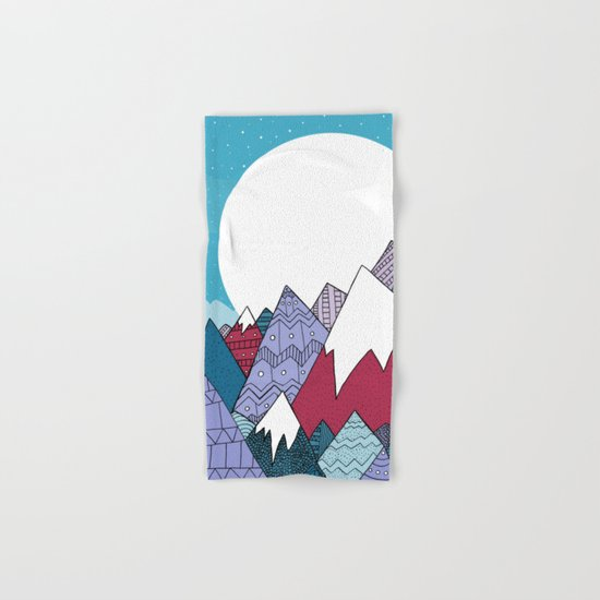 Blue Sky Mountains Hand & Bath Towel