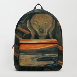 The Scream by Edvard Munch, circa 1893 Backpack