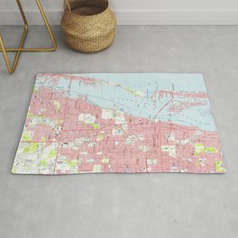 Vintage Map of Clearwater Florida (1974) Rug