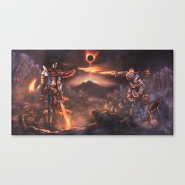 The Pyromancer (Dark Souls Fan Art) Canvas Print