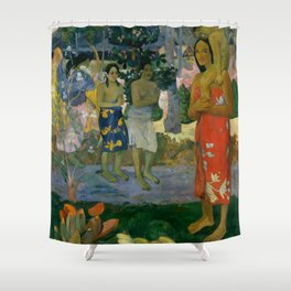 """Paul Gauguin """"Orana Maria (Hail Mary)"""" Shower Curtain"""