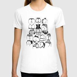 Lingerie Butts T-shirt