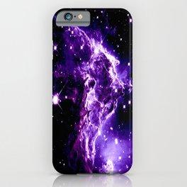 Purple Monkey Head Nebula Galaxy Space iPhone Case