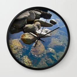Colour of Stone Wall Clock