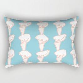 Arum Lily Pattern Rectangular Pillow