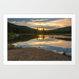 Lily Pond Sunset Art Print