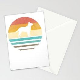 retro vintage sundown australian livestock canine shape present pullover tee Stationery Cards