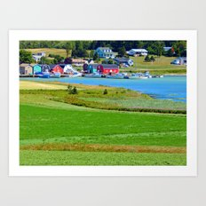 French River Harbour Art Print