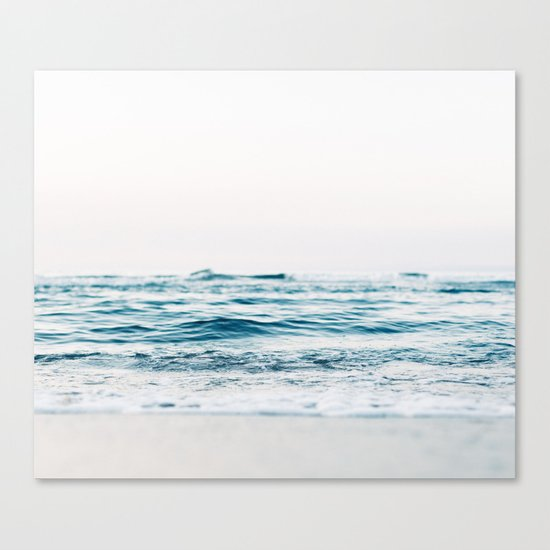 Kiss Me Like A Wave Canvas Print