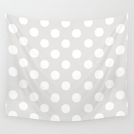Polka Dots (White/Platinum) Wall Tapestry
