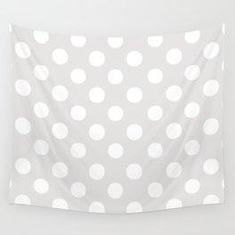 Polka Dots (White/Platinum) Wall Tapestry