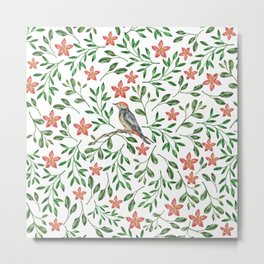 BIRD - WATERCOLOUR Metal Print