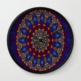 """Kaliedoscope/Mandala -  """"Stained Glass"""" Wall Clock"""