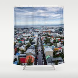 Colors of Ice Shower Curtain