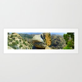 Desert Above Tuscon, Arizona Art Print