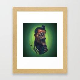 Untitled (soldier, green) Framed Art Print