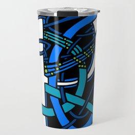Celtic Peacock Letter P Travel Mug