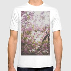 Spring Blossoms Mens Fitted Tee White MEDIUM