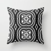 om Throw Pillows featuring Om by MandalaHealingArt