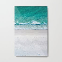 White sand beach Metal Print