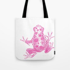 Little Frog Magenta Tote Bag