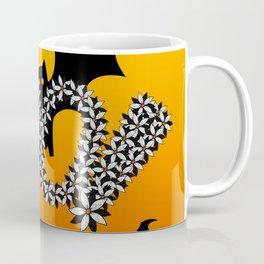 Halloween Flowers Bats BOO Design! Coffee Mug
