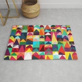 Abstract Geometric Mountains Rug