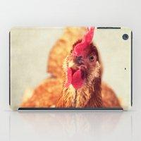 chicken iPad Cases featuring chicken by Beverly LeFevre