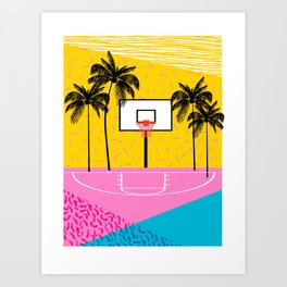 Dope - memphis retro vibes basketball sports athlete 80s throwback vintage style 1980's Kunstdrucke