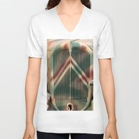 truck V-neck T-shirts featuring Camo Truck by theGalary