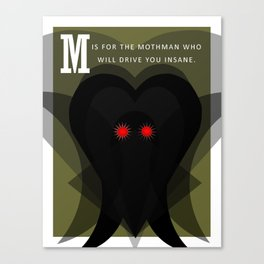 M is for Mothman Canvas Print