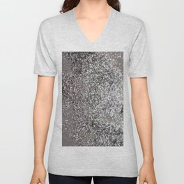 Sparkling SILVER Lady Glitter #1 #decor #art #society6 Unisex V-Neck