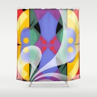 milky way Shower Curtains featuring Milky Way by Kristine Rae Hanning