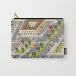 Perspective view of the urban neighborhoods Carry-All Pouch