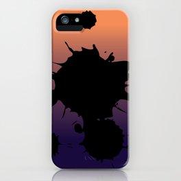 Sunset Gradient Splatter iPhone Case