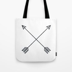 Arrows 2.0 - Black and White Arrow Adventure Wanderlust Vintage Compass Design Tote Bag