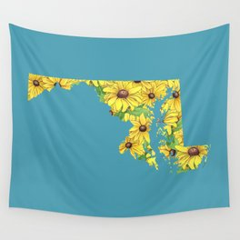 Maryland in Flowers Wall Tapestry
