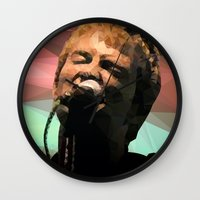 radiohead Wall Clocks featuring Thom Yorke | Radiohead | Creep | Polygon Art by Mirek Kodes