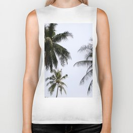 Tropical palm trees Biker Tank