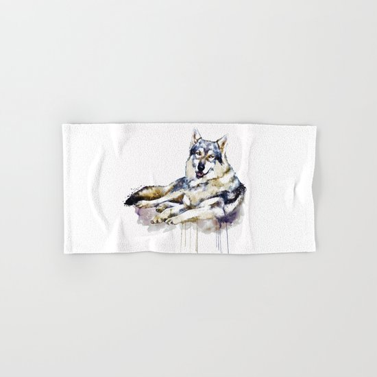 Smiling Wolf Hand & Bath Towel