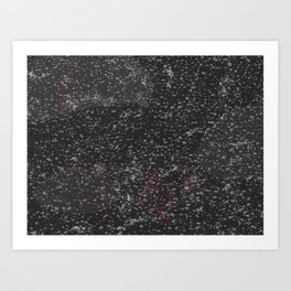 Black Granite Pattern #society6 Art Print
