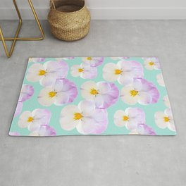 Pansies Dream #1 #floral #pattern #decor #art #society6 Rug