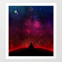 cancer Art Prints featuring Cancer by bitterkiwi