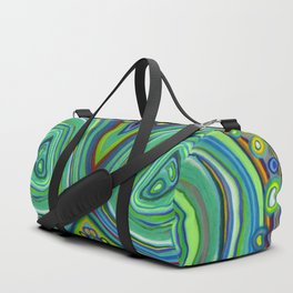 Vibrant Pastel on Suede Tree Ring Abstract by annmariescreations Duffle Bag