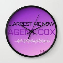 Agent Cox  Wall Clock