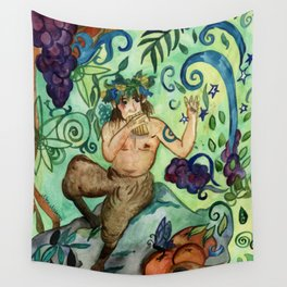 Hymn To Pan Wall Tapestry