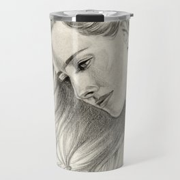 Girl with butterflies Travel Mug