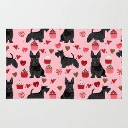 Scottie scottish terrier valentines day dog love pet portrait cute puppy dog valentine Rug