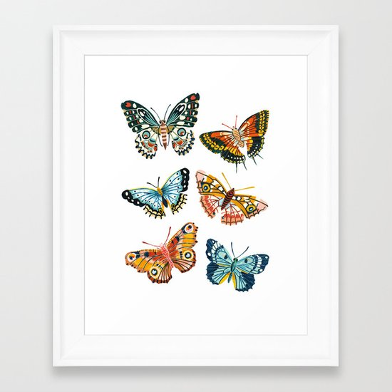 Woodland Butterfly Print by amberstextiles